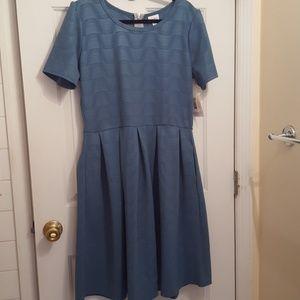 Lularoe Amelia dress.  2xl dk. teal